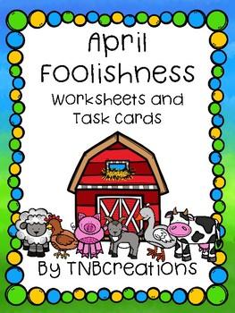 April Foolishness Worksheets and Task Cards