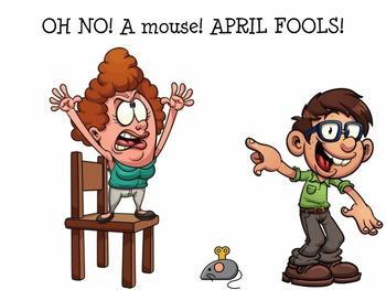 April Fools Early Reader Literacy Circle Language Activity