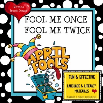 April Fools Early Reader Literacy Circle Language Activity