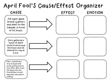 April Fool's Cause and Effect & Perspective Taking for Older Students