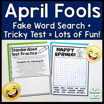 April Fools Word Search and Tricky Test: Two No-Prep April Fools Day Activities!