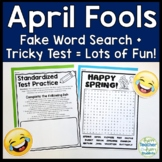 April Fools Word Search and Tricky Test: Two No-Prep April
