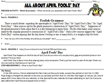 informative speech april fools day The history of april fools day or also know as all fools day- had started in france around 1582 the result of a reformation of the calendar form the julian calendar to the gregorian calendar by pope charles ix.