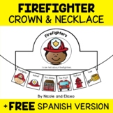 Necklace Craft - Firefighter Activity