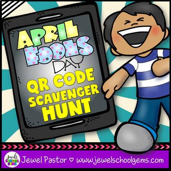 April Fools Day Activities (April Fools Day QR Codes Scavenger Hunt)