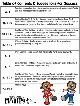 April Fools' Day Activities & Printables