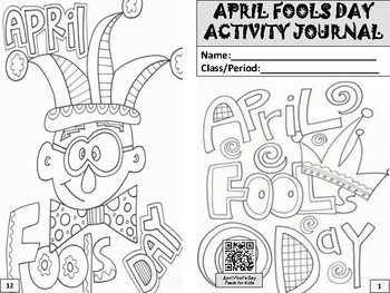 April Fools Day Activity Journal
