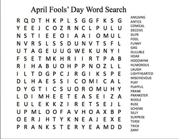 April Fools' Day Activity Pack