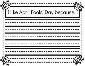 April Fools' Day Craftivity