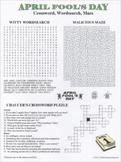 April Fool's Day Crossword Wordsearch Maze