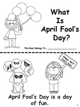 April Fool's Day Easy Reader
