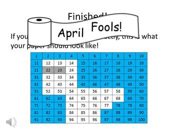 April Fool's Day Hundreds Chart Fun - Watch, Think, Color Mystery Pictures