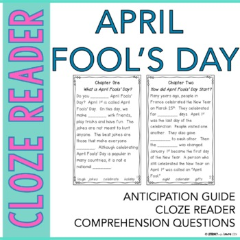 April Fools' Day Instant Reading Lesson with Cloze Passages