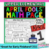April Fools' Day Math: 4th Grade Math or 5th Grade Math Review