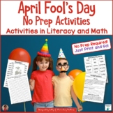April Fool's Day Math and Literacy Activities
