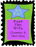 April Fools' Day Nonfiction Text, Summary & Main Idea, Graphic Organizers