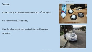 April Fools Day - Power Point - Full History Facts Pranks Hoaxs Pictures