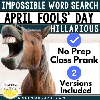 April Fools' Day Prank | April Fools Day Activity | April Fools Word Search Joke