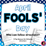 April Fools' Day Quizzes!!!