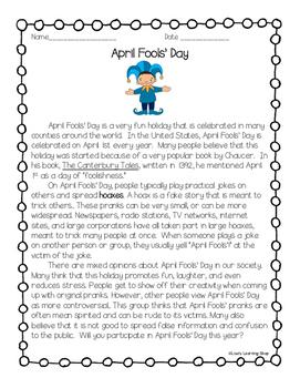 April Fools' Day Reading