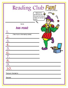 April Fools' Day Reading Log and Certificate Set