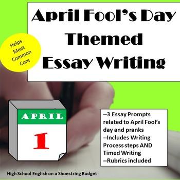April Fool's Day Themed Essay Writing, w Rubrics & Printables