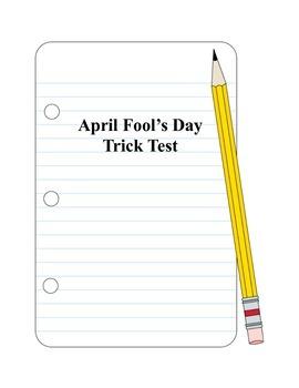 April Fool's Day Trick Test