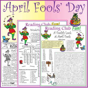 April Fools' Day Two-Page Activity Set