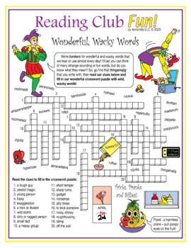 April Fools' Day With Fun Words Crossword Puzzle