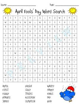 April Fools' Day Word Search