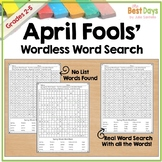 April Fools Word Search:  Wordless and Worded Searches!