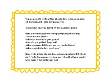 April Fools' Day Writing Prompt