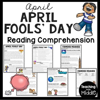 April Fools' Day, Reading Comprehension Worksheet, Spring, Holidays, April 1st