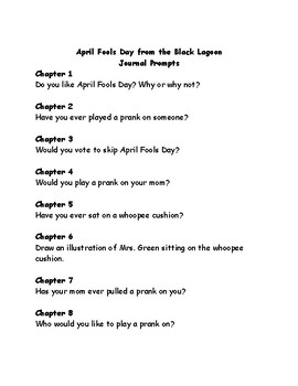 April Fools Day from the Black Lagoon comprehension questions