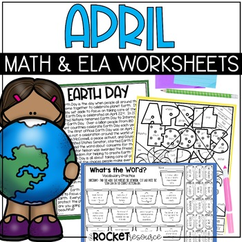 April Fools, Earth Day, Arbor Day, springtime: April no-prep printables