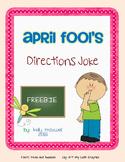 April Fool's Joke