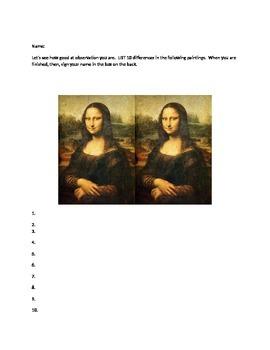 April Fools Joke Assignment for High School Art History