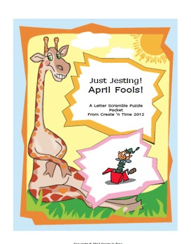 April Fools Letter Scramble Puzzle Packet and Center