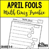 April Fools Math Quiz