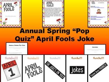 April Fools Pop Quiz