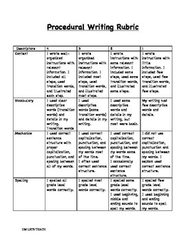 PROCEDURAL WRITING MINI PACK