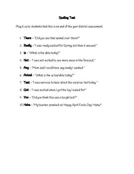 April Fools Spelling Test