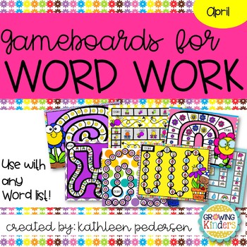 April Game Boards for ANY Word List!