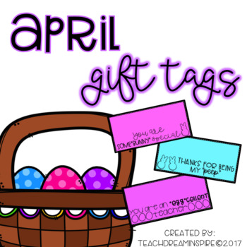 April Gift Tags