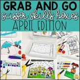 April Grab and Go Scissor Skills Activities