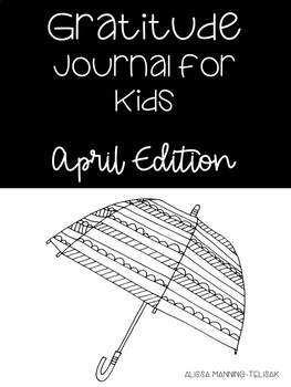 April Gratitude Journal for Kids