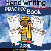 April Hand Writing Practice Book Freebies