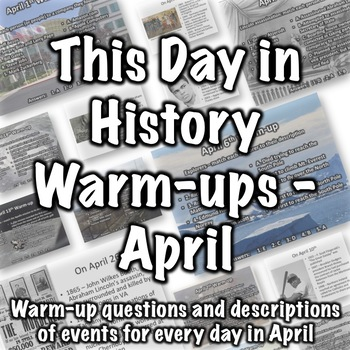 History Warmup - Bell Ringer Questions for April