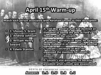 This Day in History Warm-ups for April
