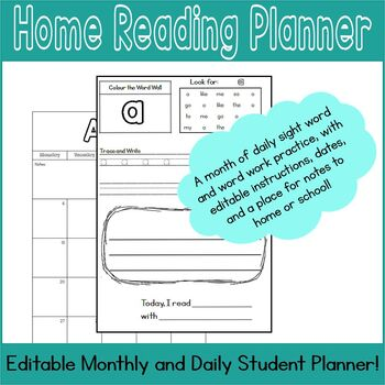 April Home Reading Planner, September - June
